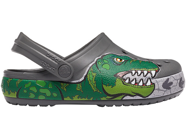 Crocs Crocs FL Dino Band Lights Clogs Niños, gris
